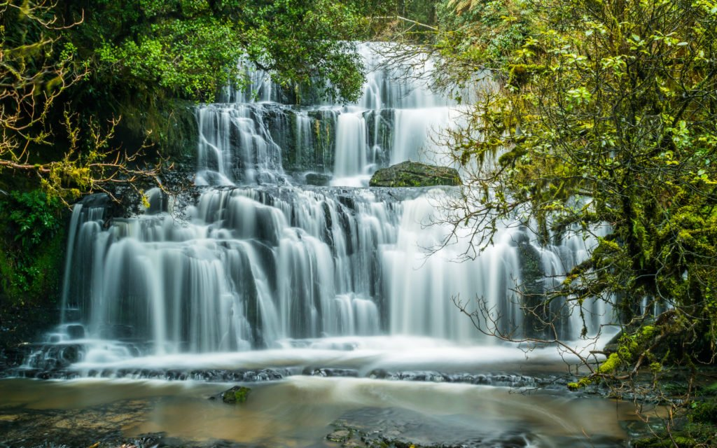 Purakaunui Falls in New Zealand Catlins Forest Park