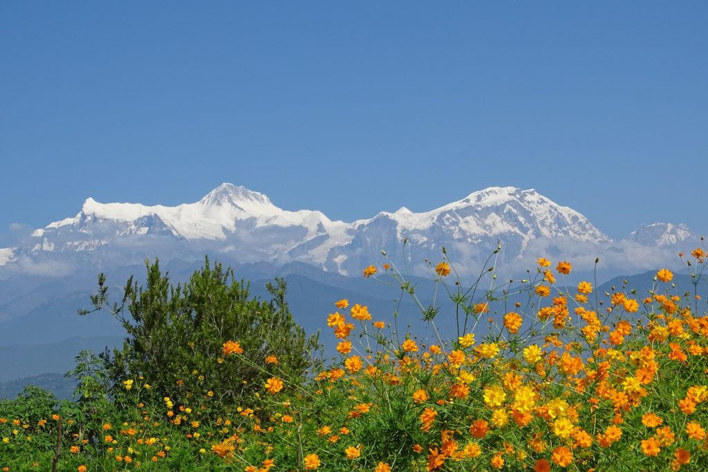 Himalaya Mountain Ranges in Nepal