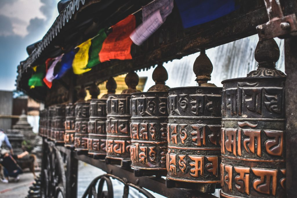 Nepal Prayer Wheels and Prayer Flags