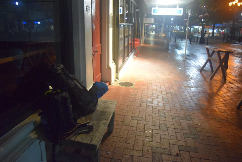 a homeless night in nelson