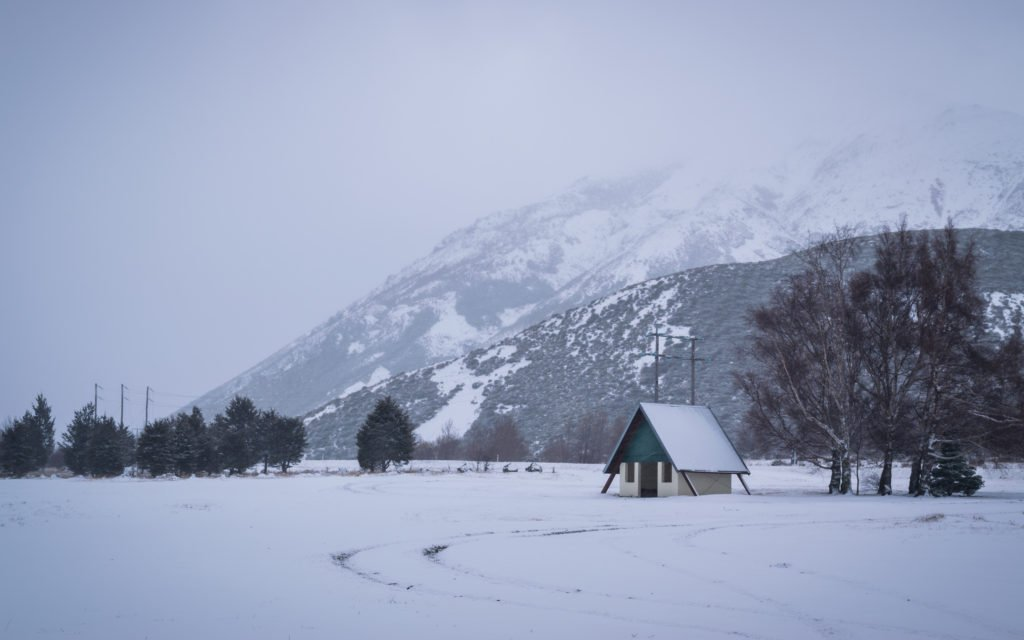 new zealand arthurs pass in winter snow