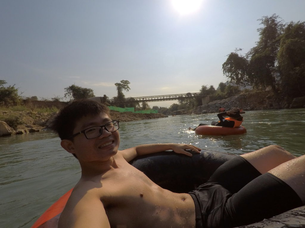 Laos Vang Vieng Tubing Experience In The Morning With no Crowds