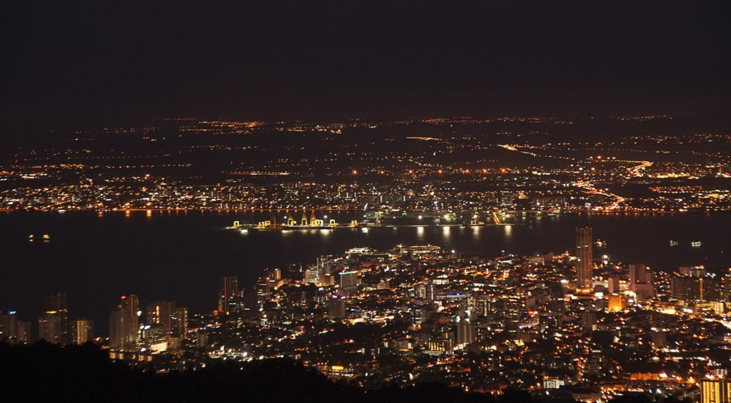 Penang Night View From Penang Hill