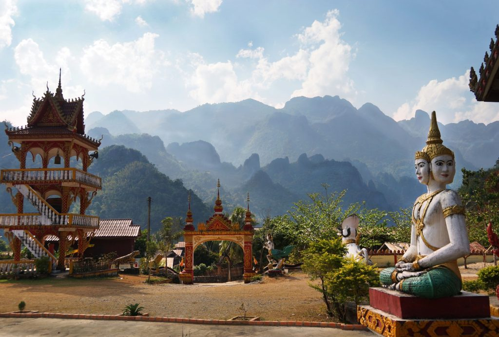 Vang Vieng Laos Mountain View from Temple