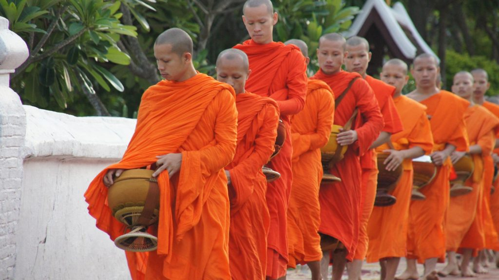 luang prabang morning alms giving ceremony tak bat ceremony laos