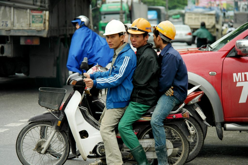 Vietnam Men on Motorbike