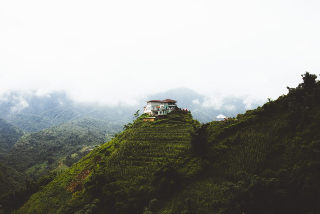 vietnam sapa hiking white building
