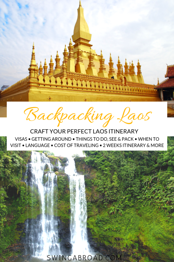 backpacking laos itinerary pin
