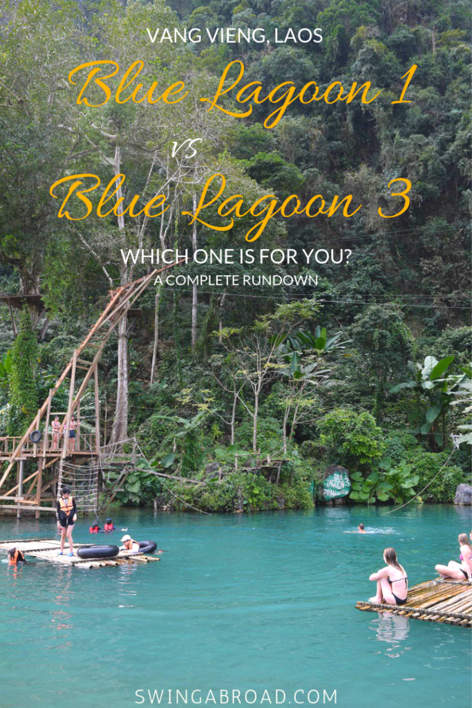 Laos Vang Vieng Blue Lagoon 1 vs Blue Lagoon 3 - Which One Is For You?