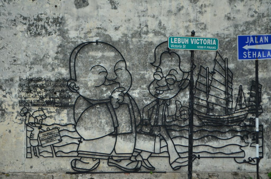 Street Art in Penang George Town Heritage Area