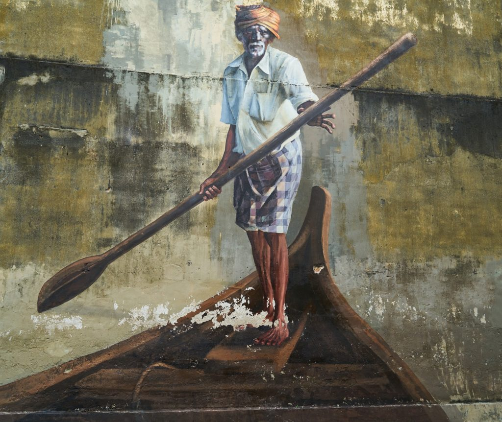 Penang Georgetown Street Art Fisherman