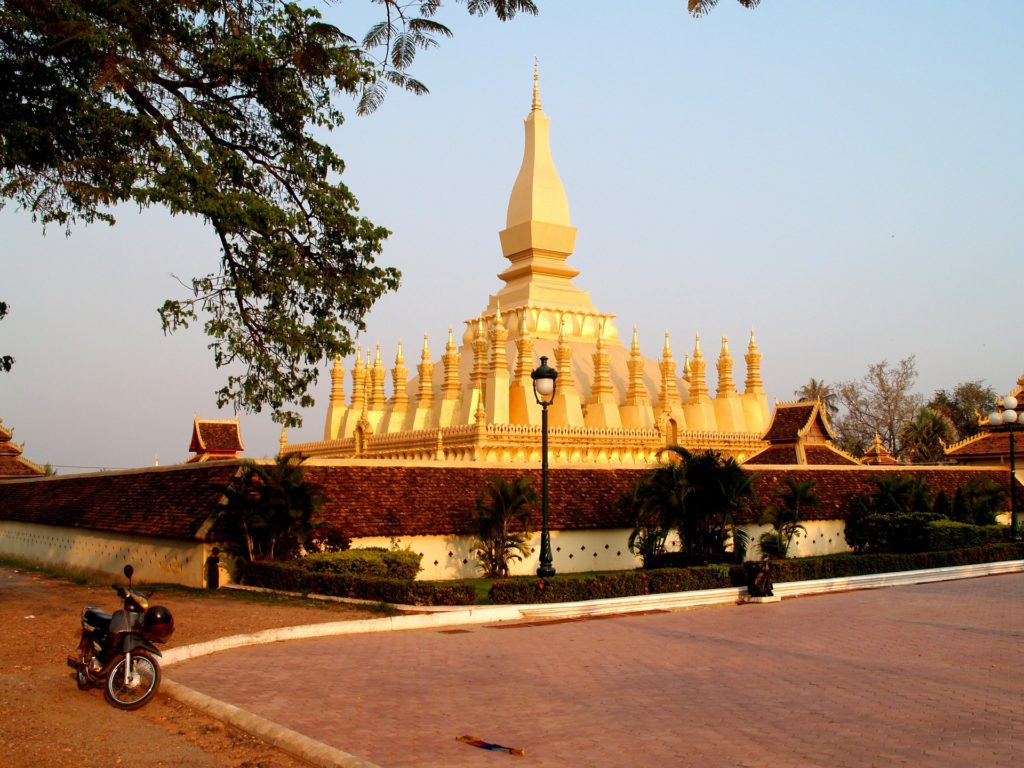 Vientiane Laos Golden Stupa Pha That Luang Landmark