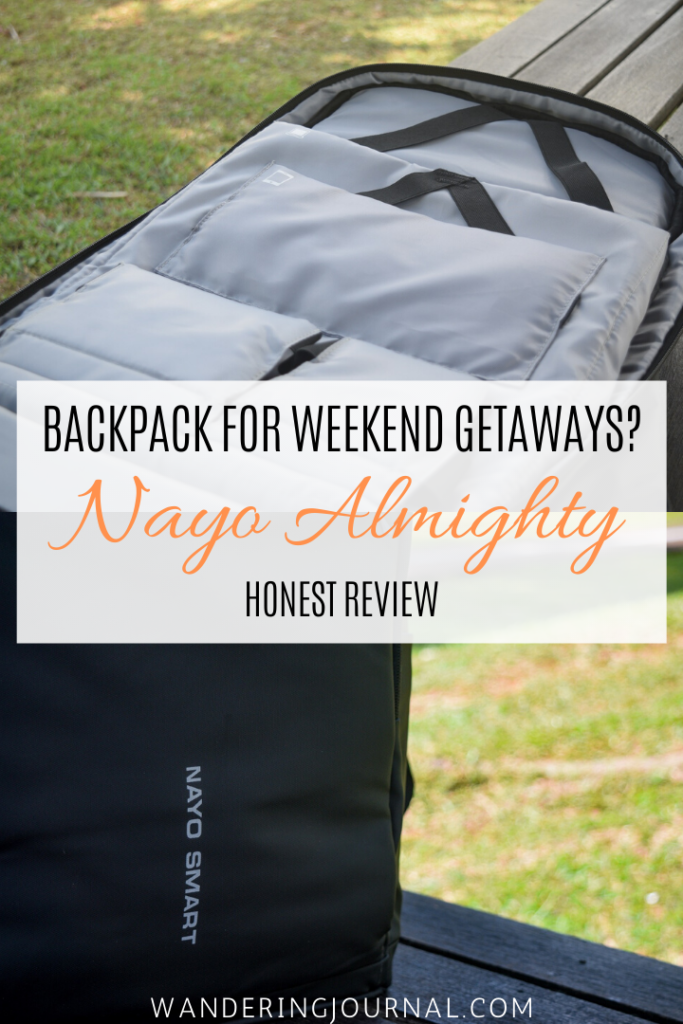 Nayo Almighty Honest Review - Best Backpack for Weekend Getaways