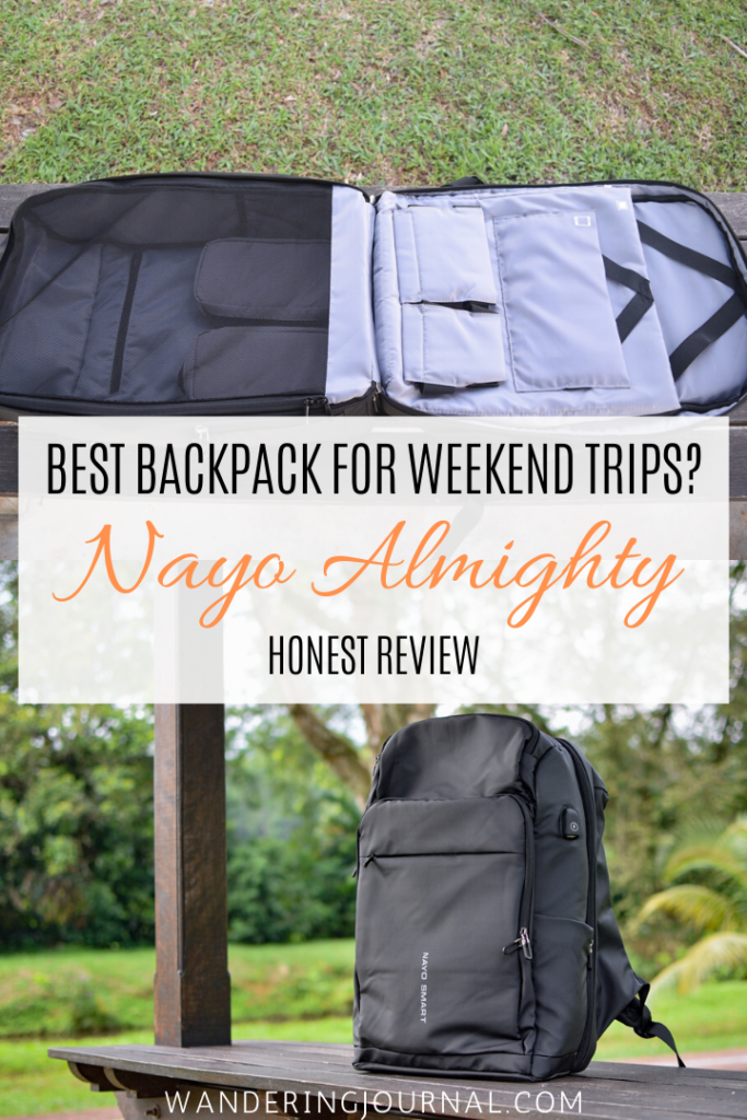 Nayo Almighty Honest Review - Best Backpack for Weekend Trips